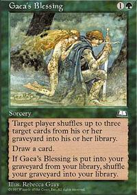 Gaea's Blessing Magic Card