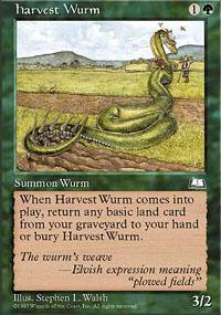 Harvest Wurm Magic Card