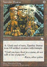 Xanthic Statue Magic Card