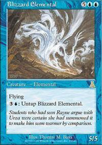 Blizzard Elemental Magic Card