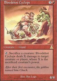 Bloodshot Cyclops Magic Card