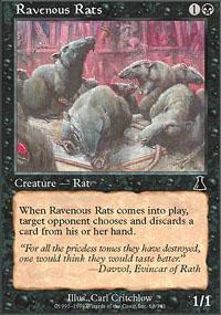 Ravenous Rats Magic Card
