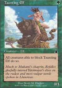 Taunting Elf Magic Card