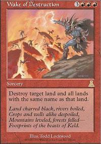 Wake of Destruction Magic Card