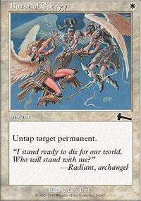 Burst of Energy Magic Card