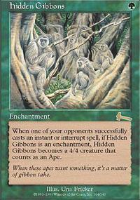 Hidden Gibbons Magic Card