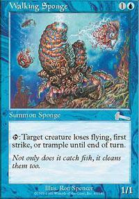 Walking Sponge Magic Card