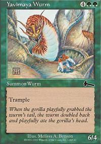 Yavimaya Wurm Magic Card