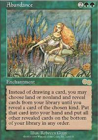 Abundance Magic Card