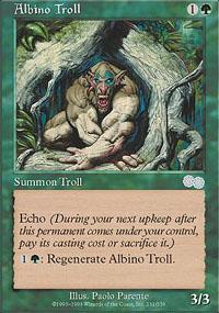 Albino Troll Magic Card