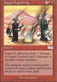 Jagged Lightning Magic Card