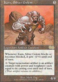 Karn, Silver Golem Magic Card