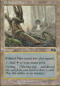 Polluted Mire Magic Card