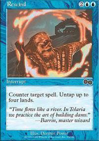 Rewind Magic Card