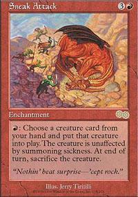 Sneak Attack Magic Card