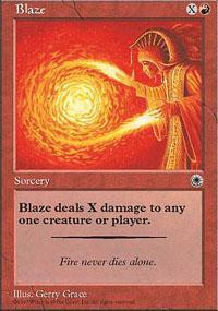 Blaze Magic Card
