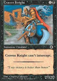 Craven Knight Magic Card