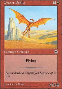 Desert Drake Magic Card