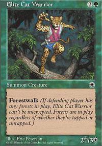 Elite Cat Warrior Magic Card