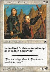 Keen-Eyed Archers Magic Card