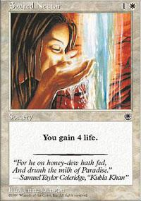 Sacred Nectar Magic Card