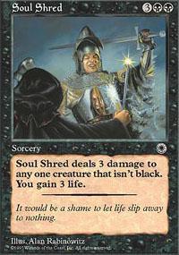 Soul Shred Magic Card