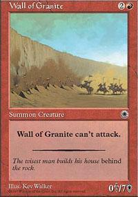 Wall of Granite Magic Card