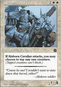 Alaborn Cavalier Magic Card