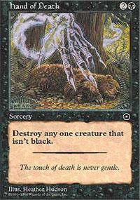 Hand of Death Magic Card