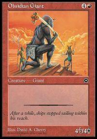 Obsidian Giant Magic Card