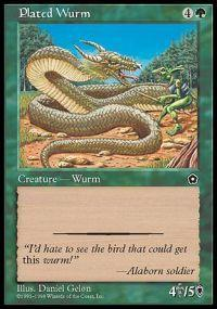 Plated Wurm Magic Card