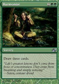 Harmonize Magic Card