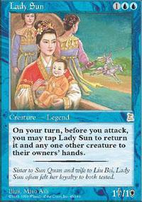 Lady Sun Magic Card