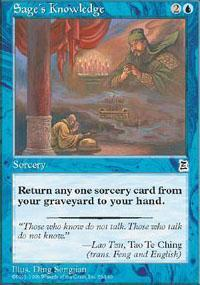 Sage's Knowledge Magic Card
