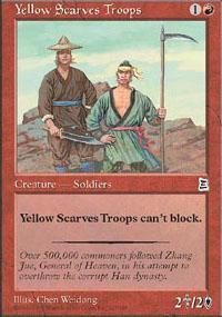 Yellow Scarves Troops Magic Card