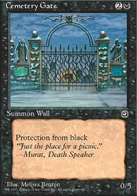 Cemetery Gate Magic Card