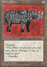 Ebony Rhino Magic Card