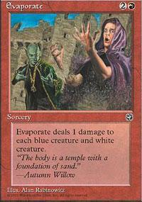 Evaporate Magic Card