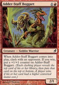 Adder-Staff Boggart Magic Card