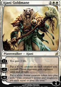 Ajani Goldmane Magic Card