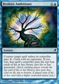 Broken Ambitions Magic Card
