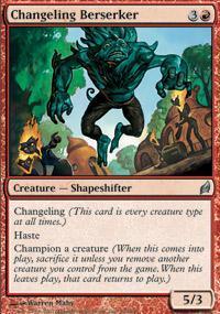 Changeling Berserker Magic Card