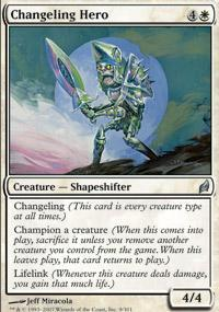 Changeling Hero Magic Card