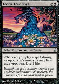 Faerie Tauntings Magic Card