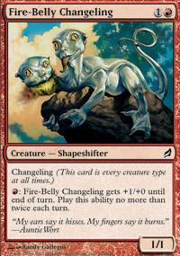 Fire-Belly Changeling Magic Card