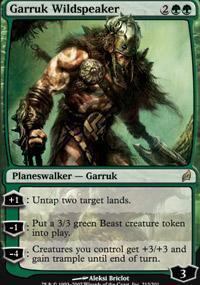 Garruk Wildspeaker Magic Card