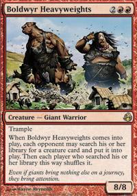 Boldwyr Heavyweights Magic Card