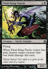 Final-Sting Faerie Magic Card