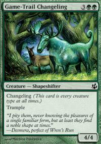 Game-Trail Changeling Magic Card