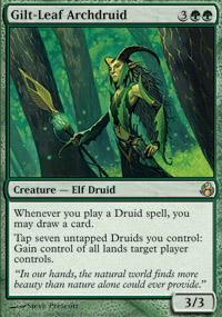 Gilt-Leaf Archdruid Magic Card